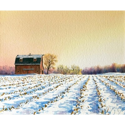 Winter Sunrise on the Farm by David Gregory