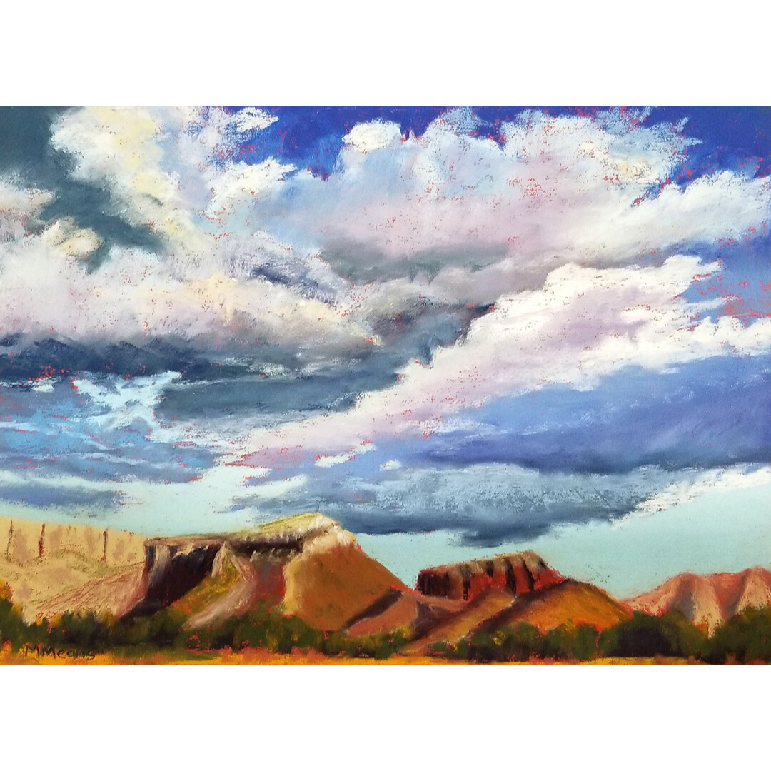 Storm Over Kitchen Mesa by Marilee Means