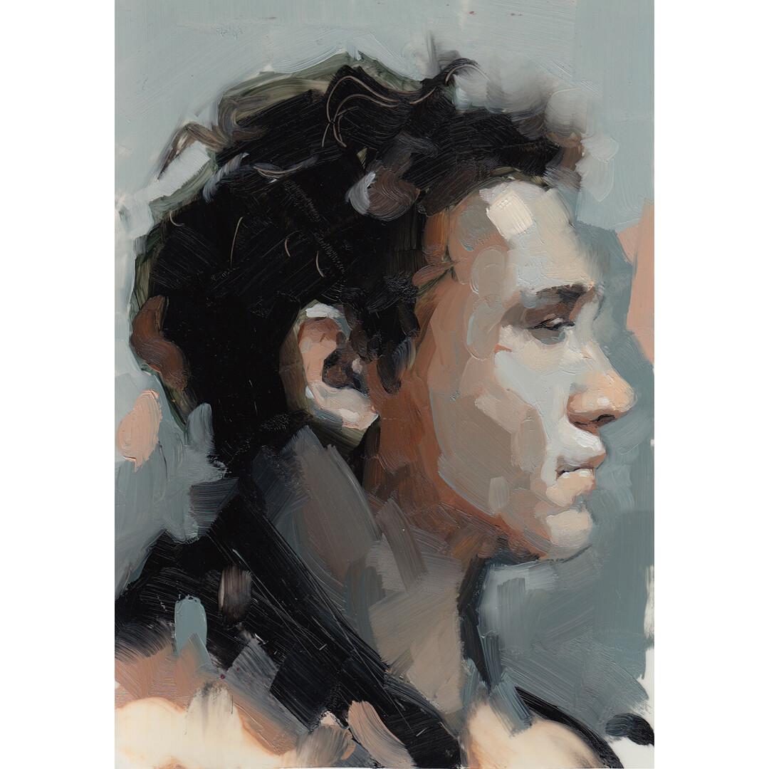 Man in Profile by Emerson Schreiner