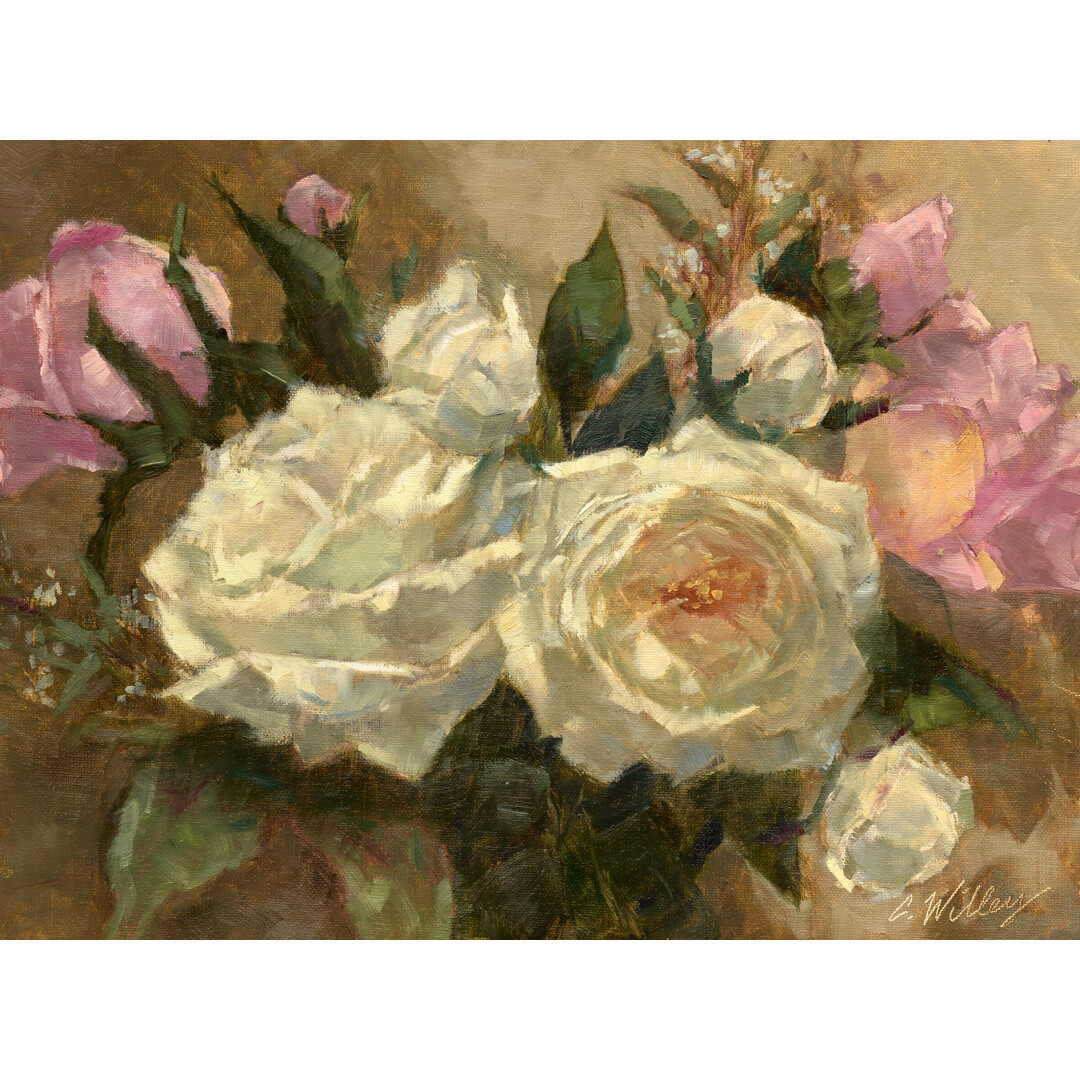 Winter Cottage Roses by Chris Willey
