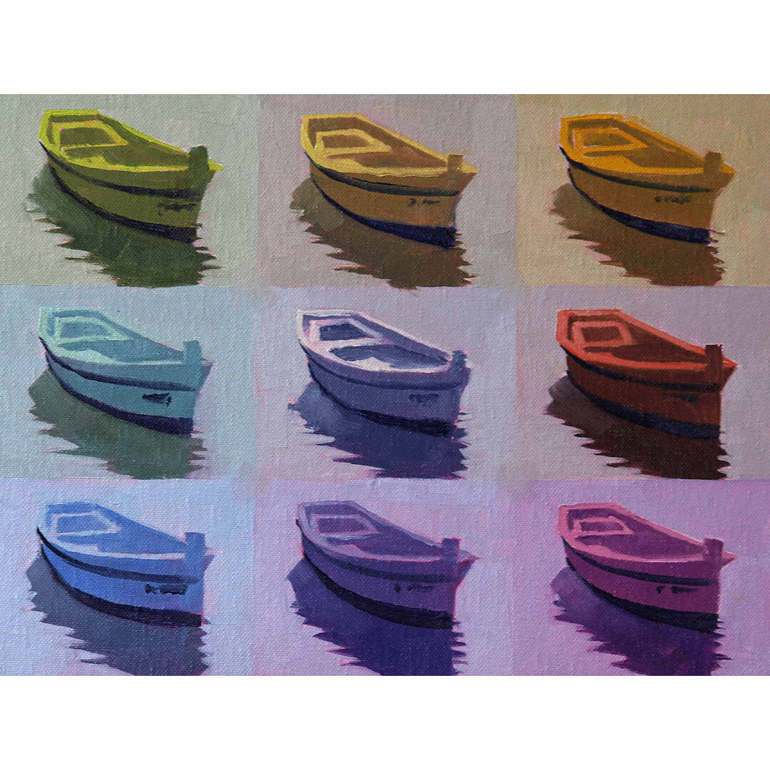 Once Around the Color Wheel in My Little Boat by Rodgers Naylor