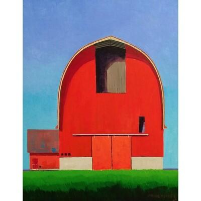 Red Barn Hay Storage