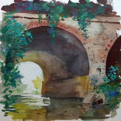 Abandoned Railway Bridge by Grace Aldrich