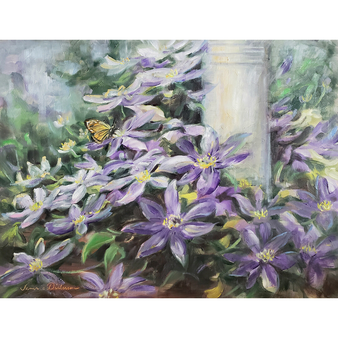 Front Porch Clematis by Tammie Dickerson