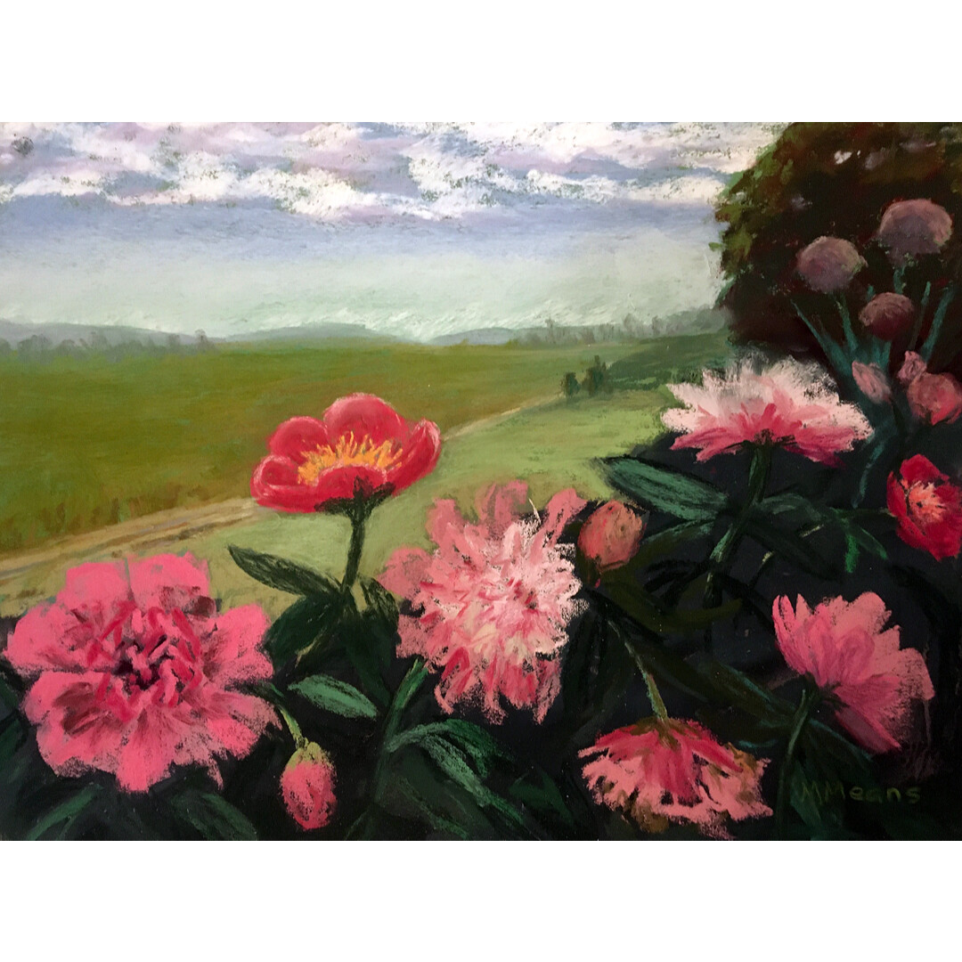 Peonies after the Rain by Marilee Means