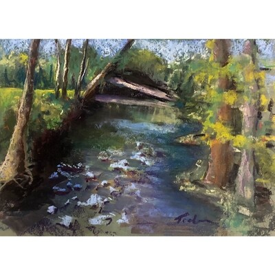 Afternoon by the Creek by Jill Tichenor