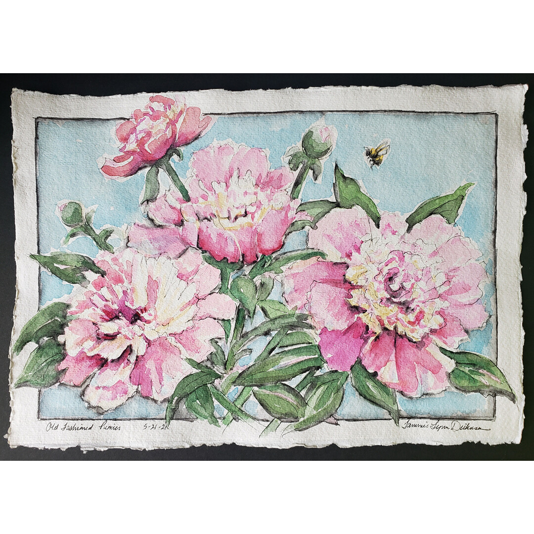 Old Fashioned Peonies by Tammie Dickerson