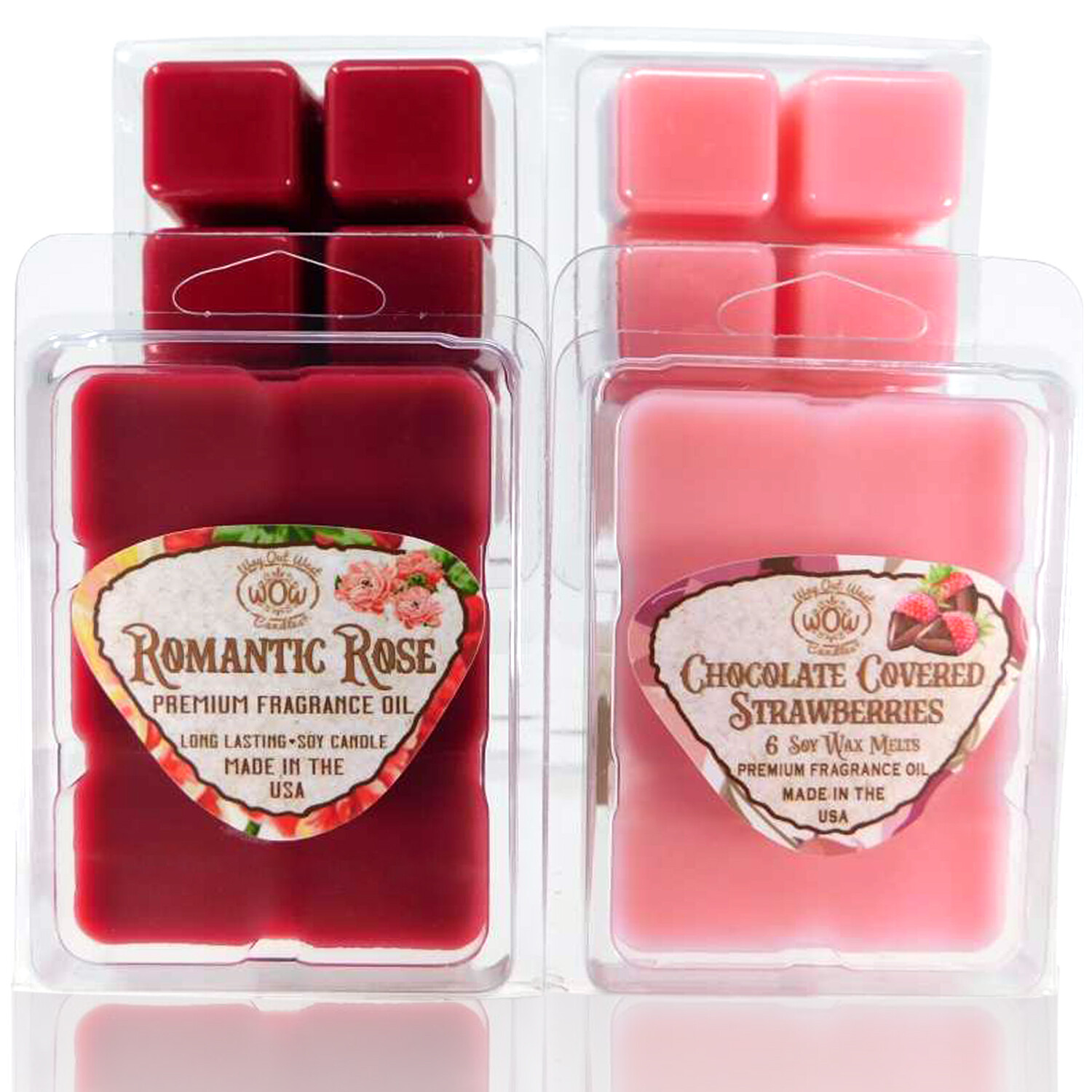 Romantic Fragrance Wax Melts - 4 Pack