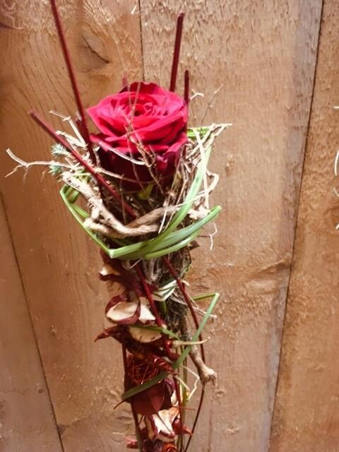 Rose décorée Rouge