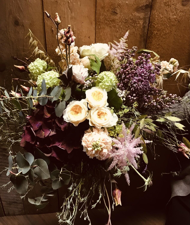 """Bouquet rond """"Pastel"""" (petit)"""