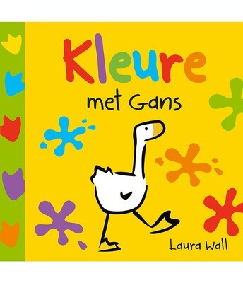GANS Kartonboek - KLEURE MET GANS