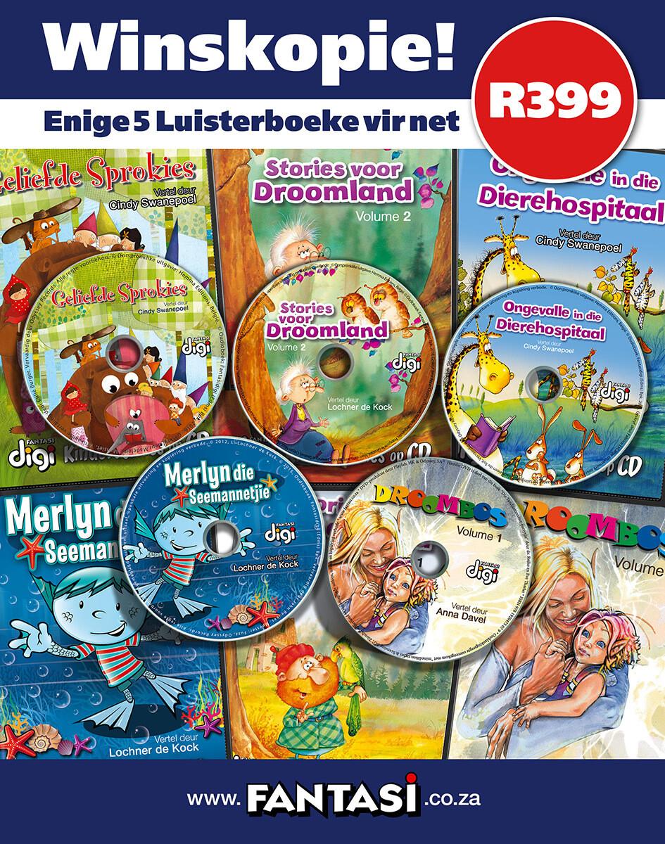 Kies enige 5 Luisterboeke vir net R399