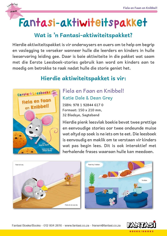 Aktiwiteitspakket - Fiela en Faan en Knibbel! - Gratis