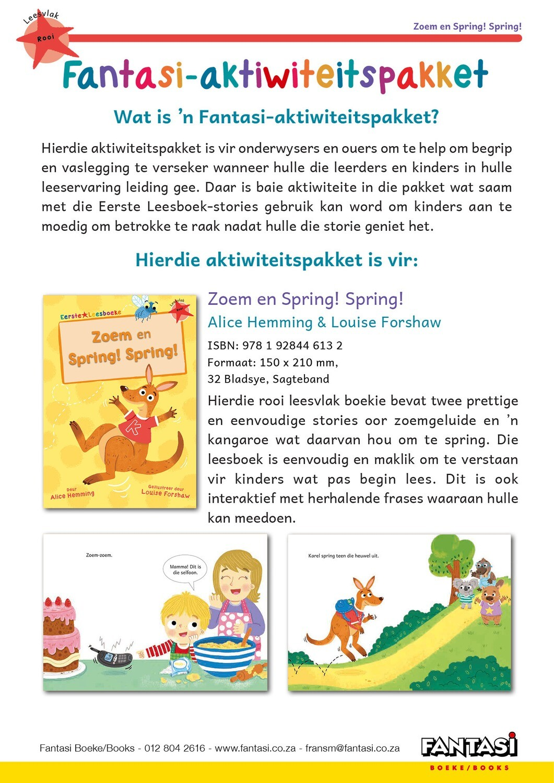 Aktiwiteitspakket - Zoem en Spring! Spring! - Gratis