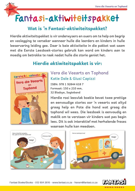 Aktiwiteitspakket - Vera die Veearts en Tophond - Gratis