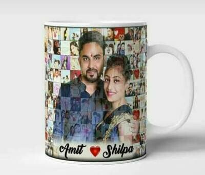 Customized Mosaic Photo Mugs