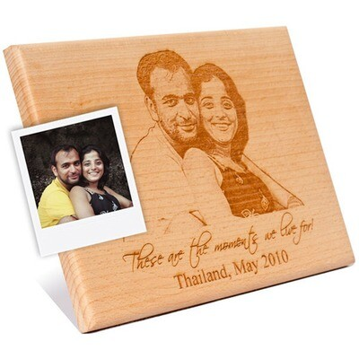 Personalized Wood Engraved Photo Stand