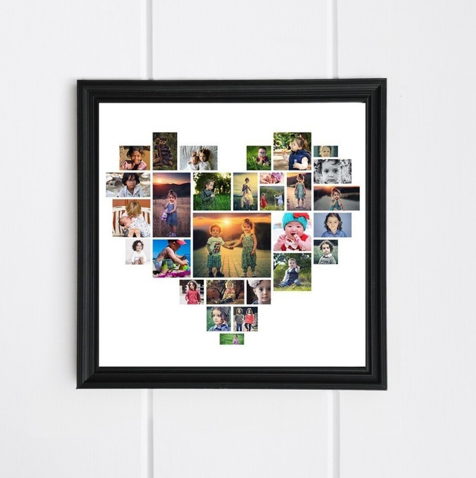 Heart Photo Collage Frame | Personalised Gift
