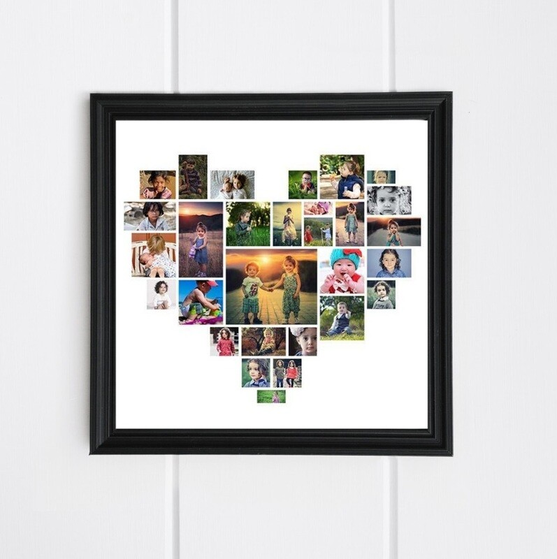 Heart Photo Collage Frame   Personalised Gift