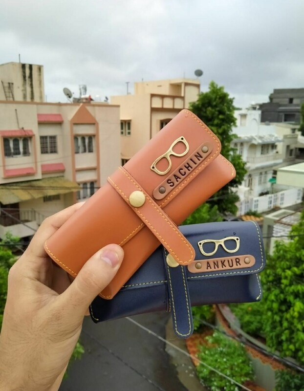 Personalised Sunglasses Cases Leather - Name & Charm