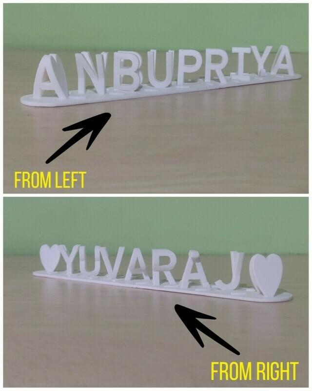 3D Flip Name - Couple Flip Name