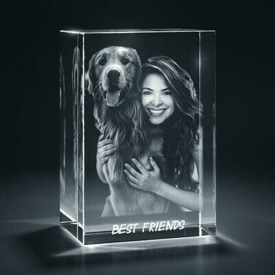 3D Crystal Photo Cube | Crystal Photo Gifts