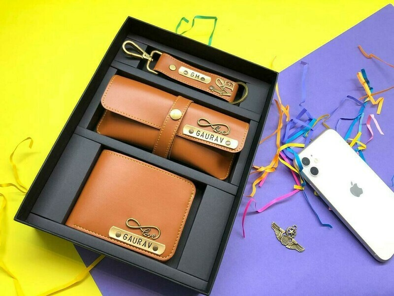 Customized Men's Wallet Combo   Keychain & Sunglass holder
