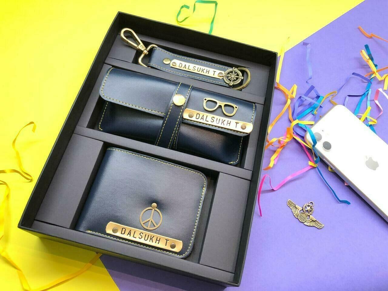 Customized Men's Wallet Combo | Keychain & Sunglass holder