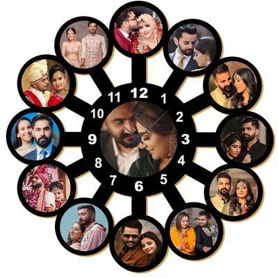 Customised Photo Clock  - With 13 Photos