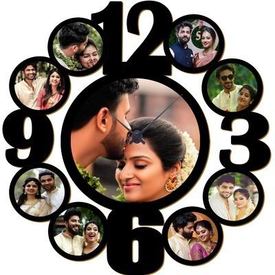 Customised Photo Clock  -  With 9 Photos