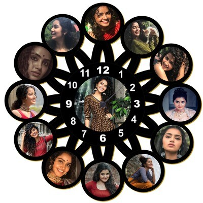 Flower Shaped Customised Photo Clock  -  With 13 Photos