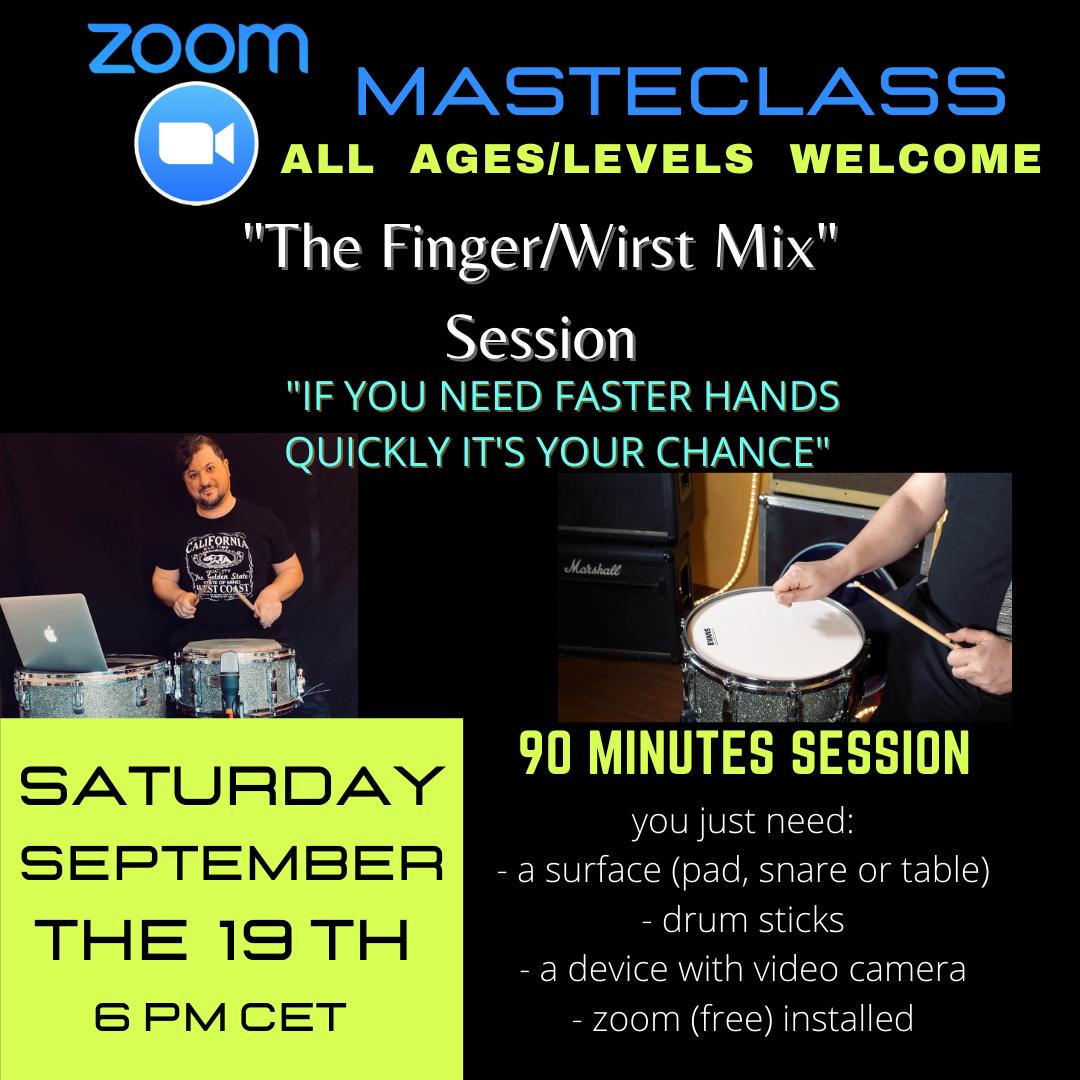 Saturday Masterclass - September the 19th