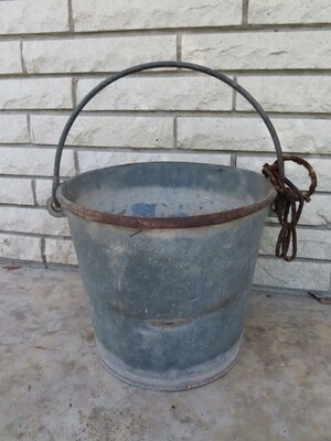 Primitive Farm Water Pail