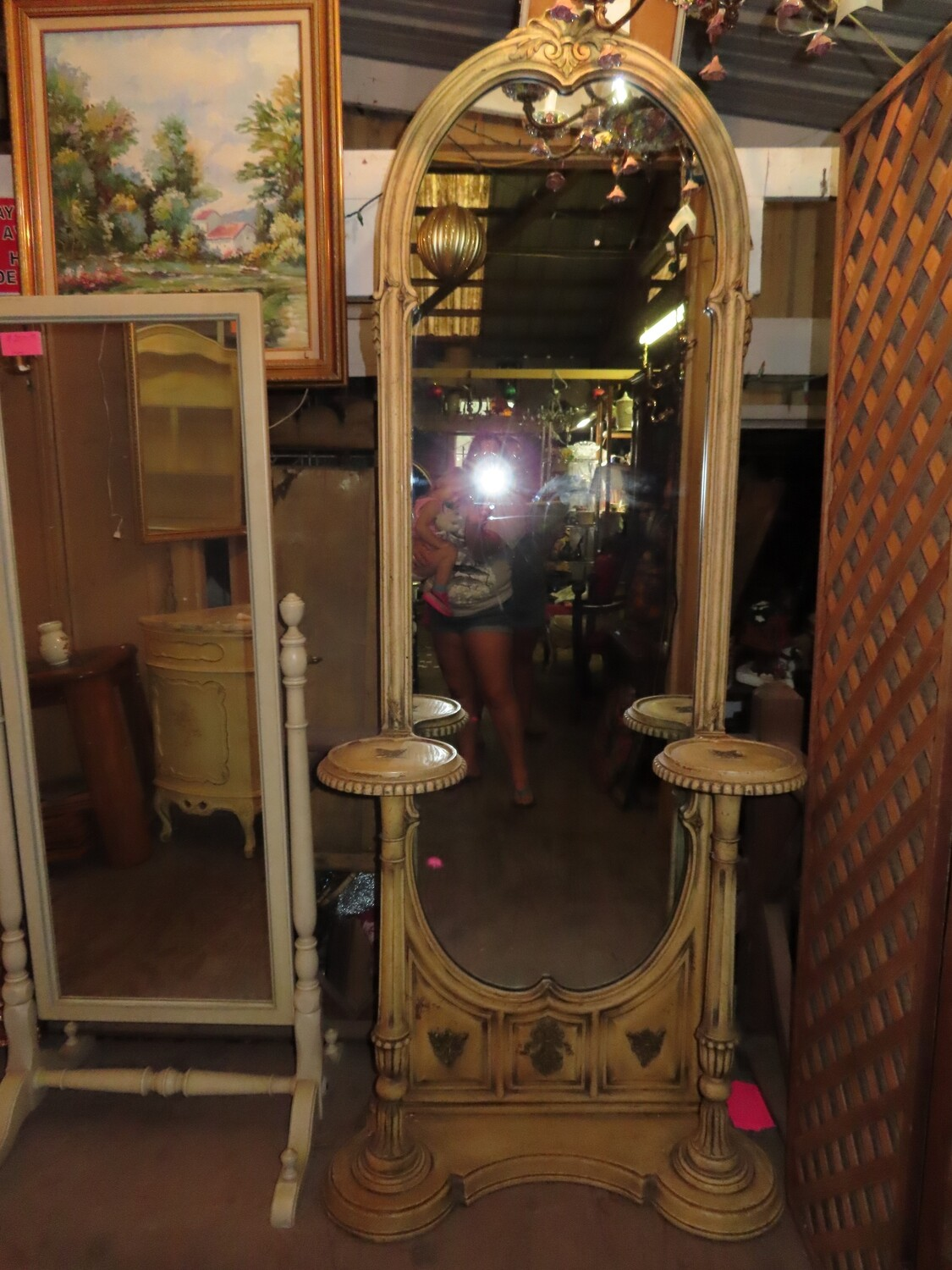 French Provincial Mirror Entry Piece