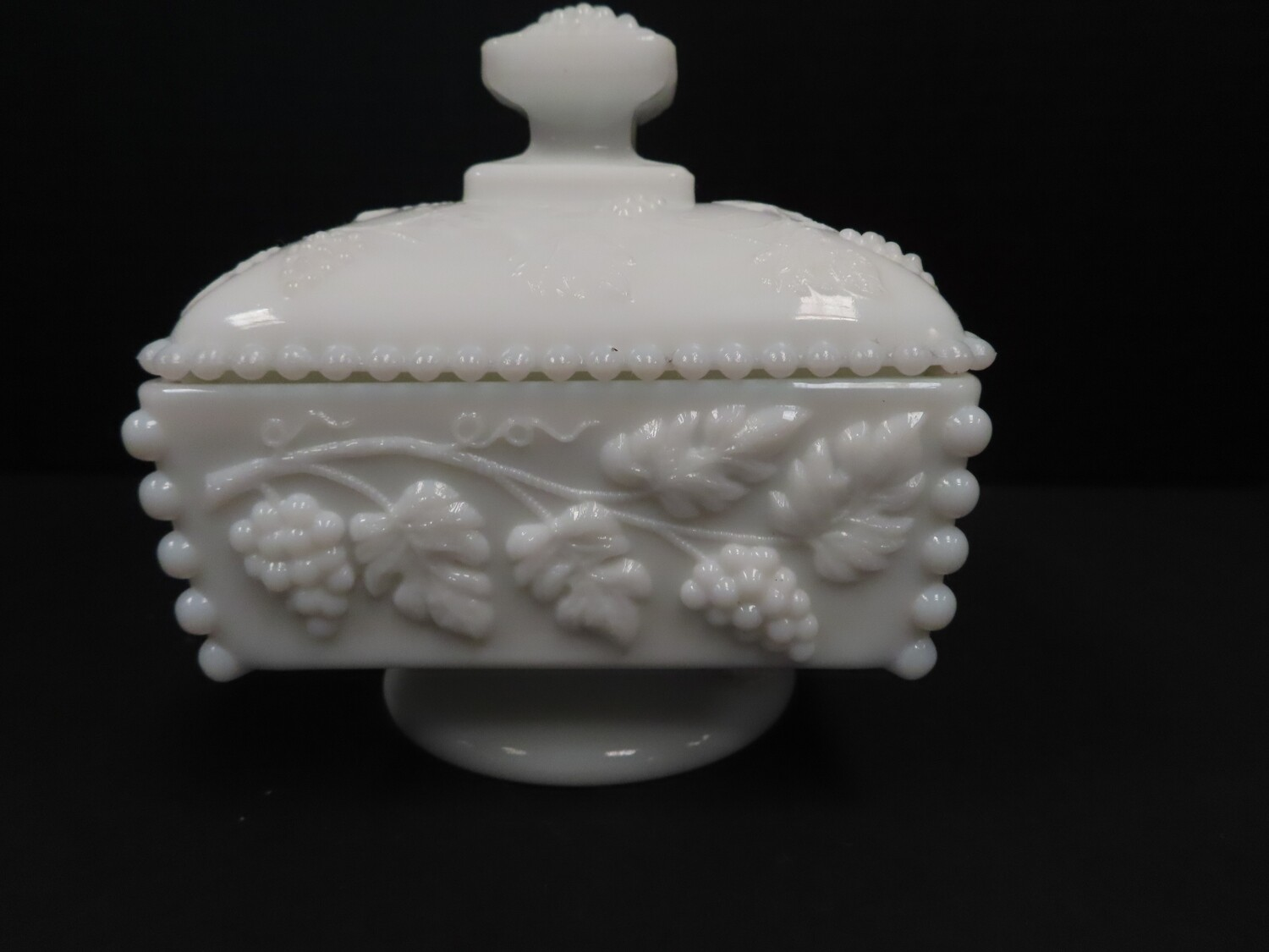 Milk Glass Wedding Bowl