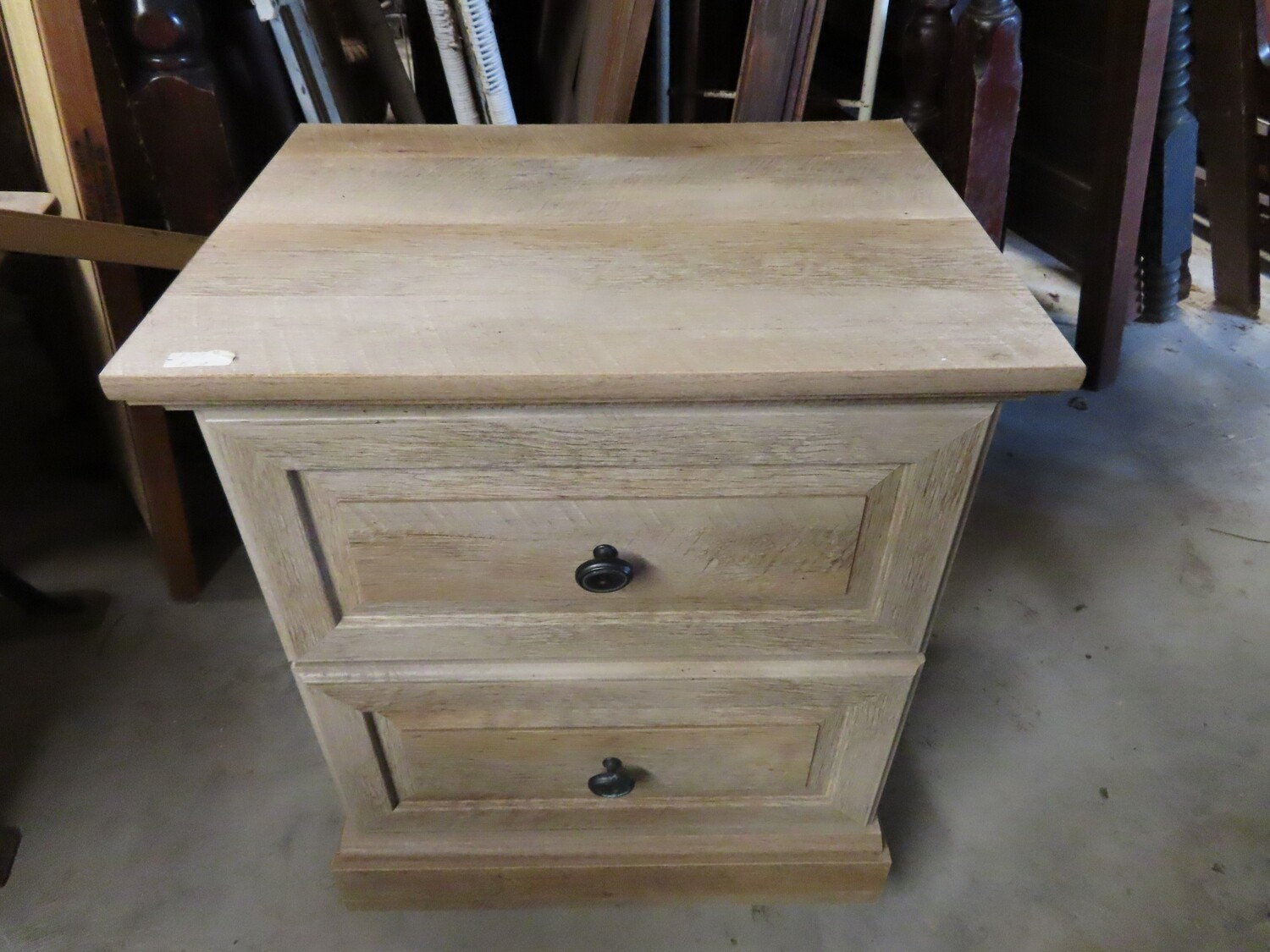 White Washed Nightstand