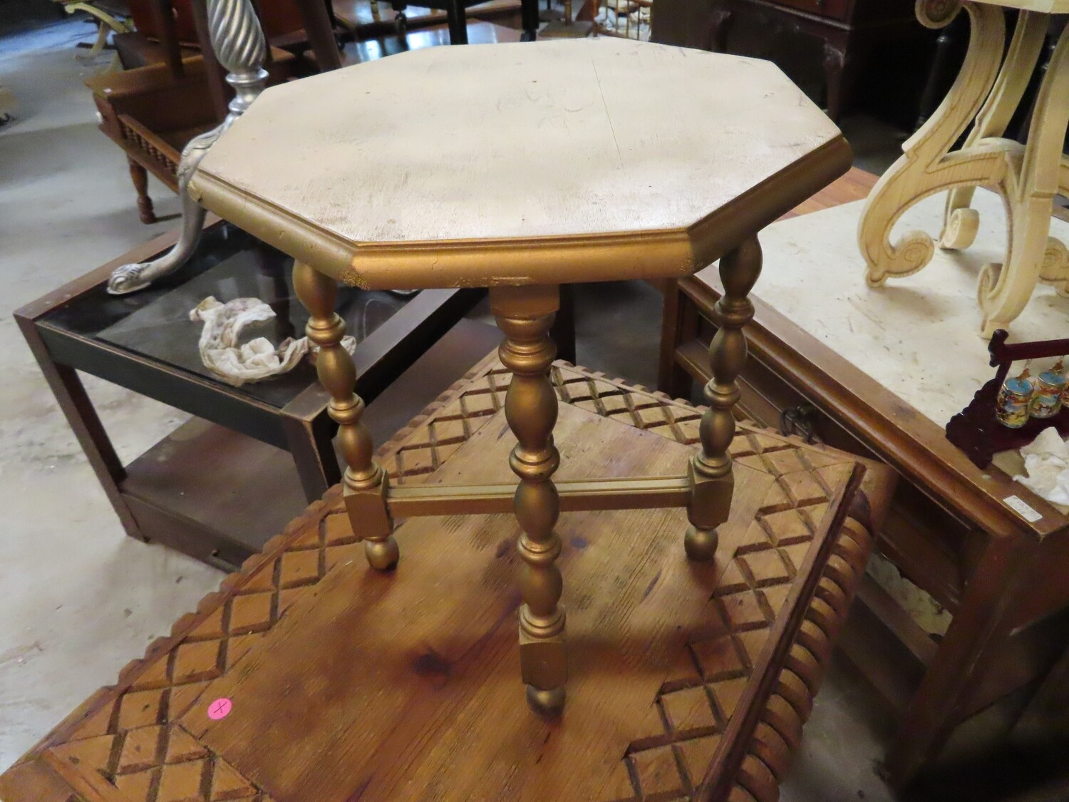 Small Gold Side Table