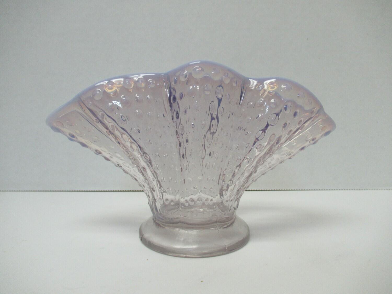 Fenton Opalescent Hobnail Ruffle Fan Vase