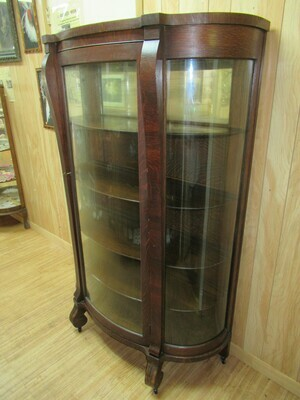 Large Curved Glass Cabinet