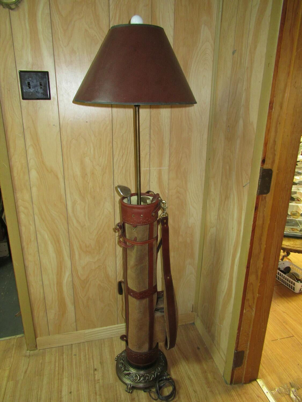"""""""Forelite"""" Belding Sports Golf Bag Floor Lamp"""