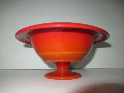 RARE Mandarin Red Fenton Bowl