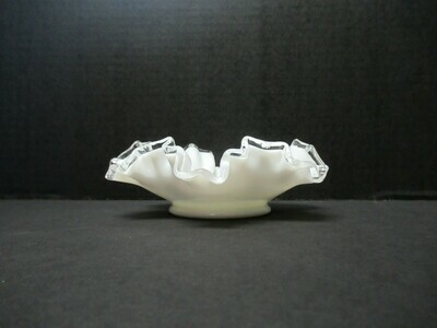 Fenton Silver Crested Candy Dish