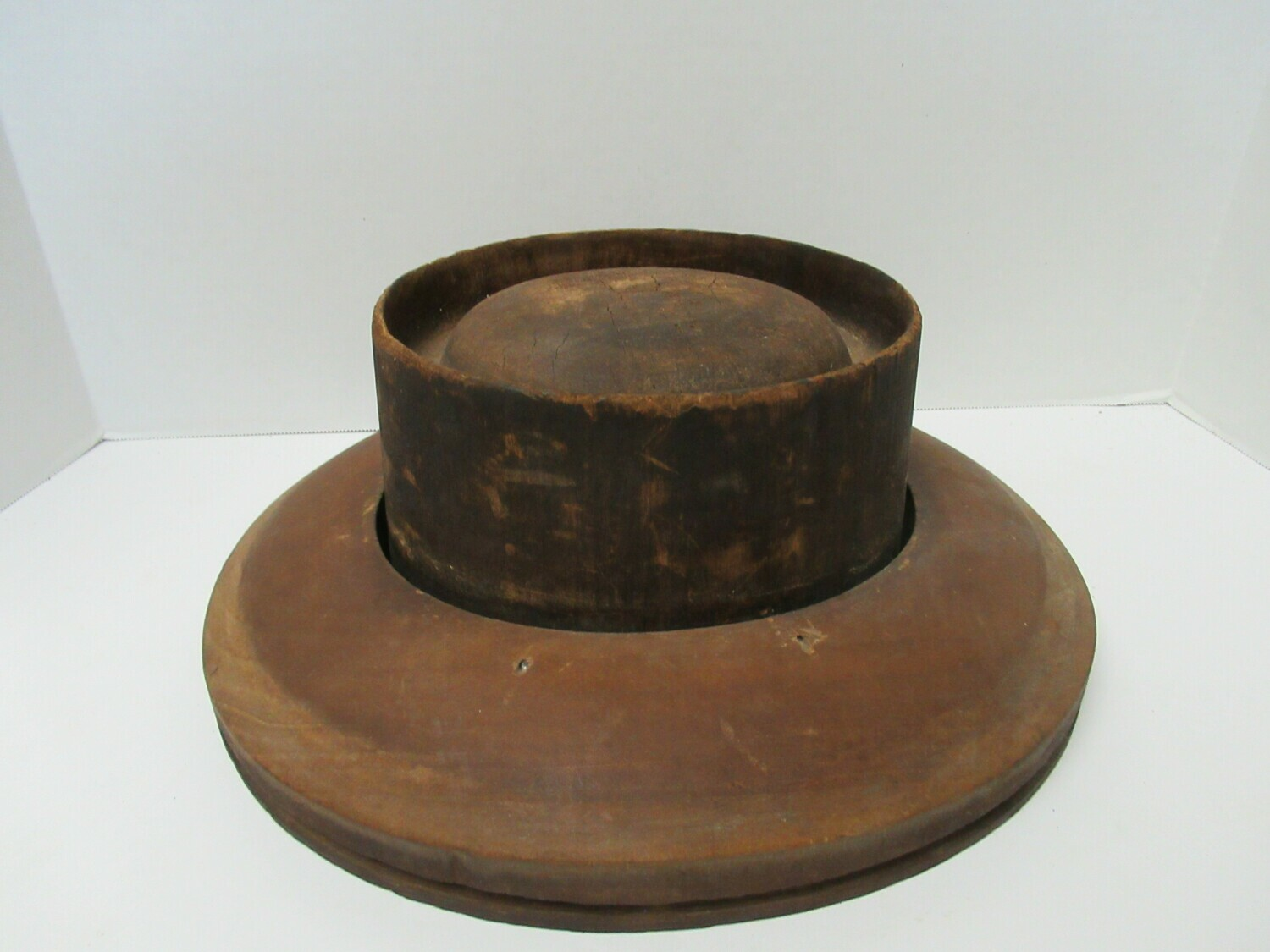 Antique Millinery Wood Hat Mold
