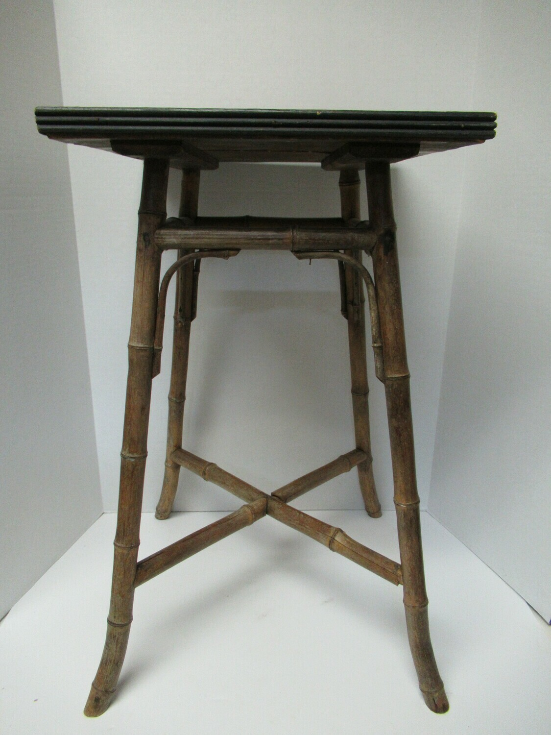 Tile Top Table with Bamboo Legs