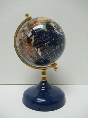 Globe Lapis with Gold Plated Brass