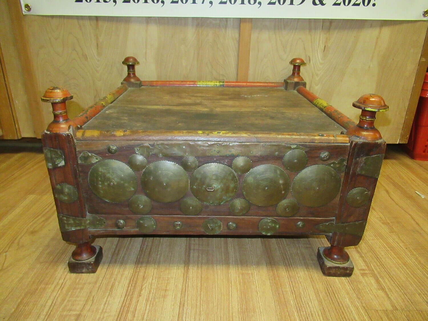 Antique Afghan Hidden Compartment Table