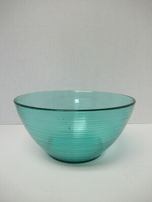 Large Arcoroc France Turquoise Teal Salad and Serving Bowl