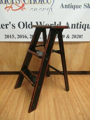 Red and Black Step Ladder