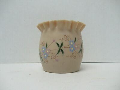 Hand Painted Caramel Satin Glass