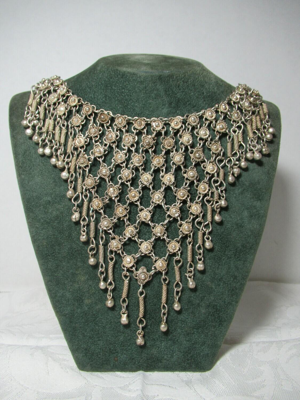 Vintage Boho Bib Fringe Necklace